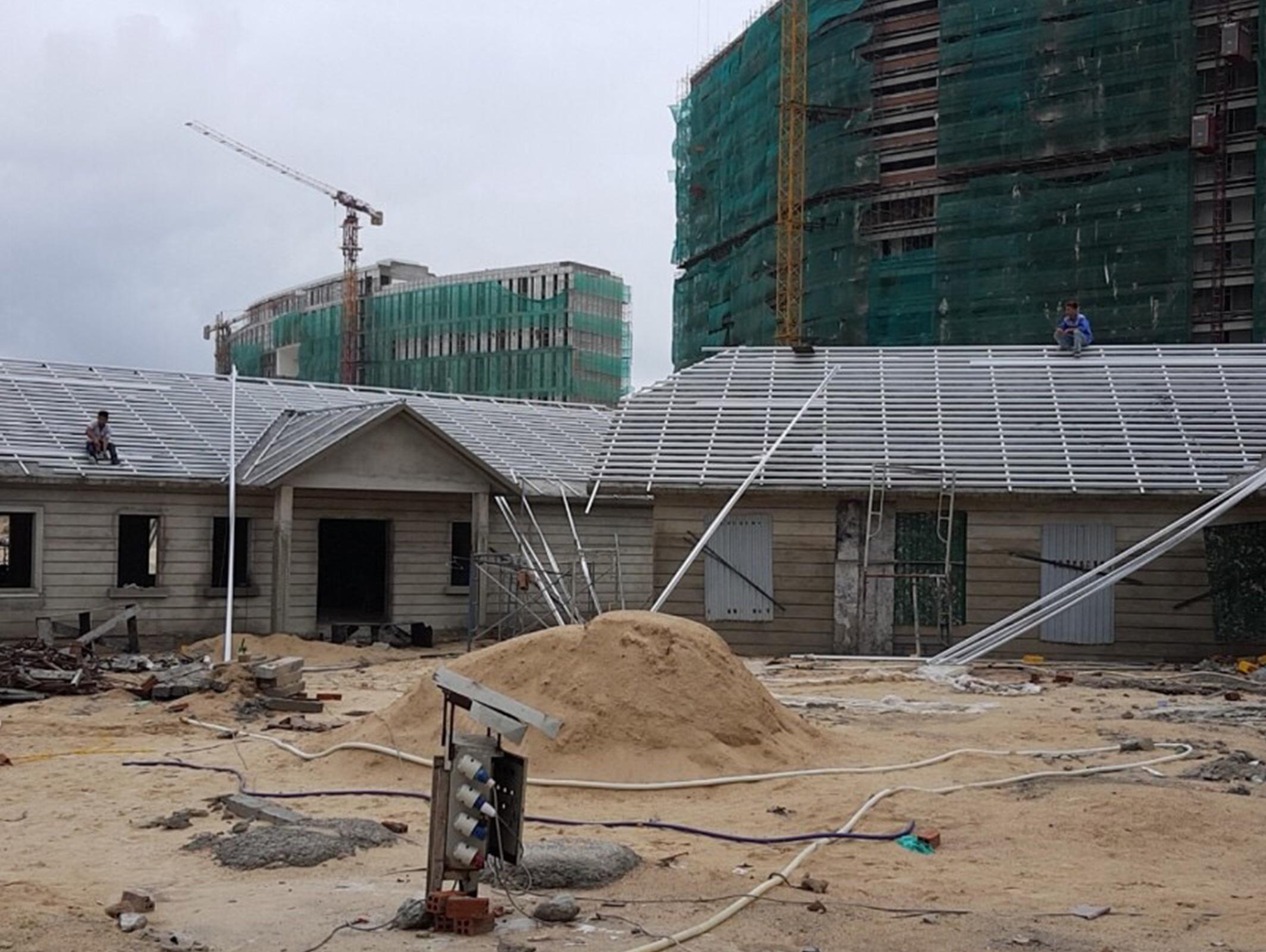 Thi công mái ngói Khánh Hòa - Dự án bãi dài Nha Trang