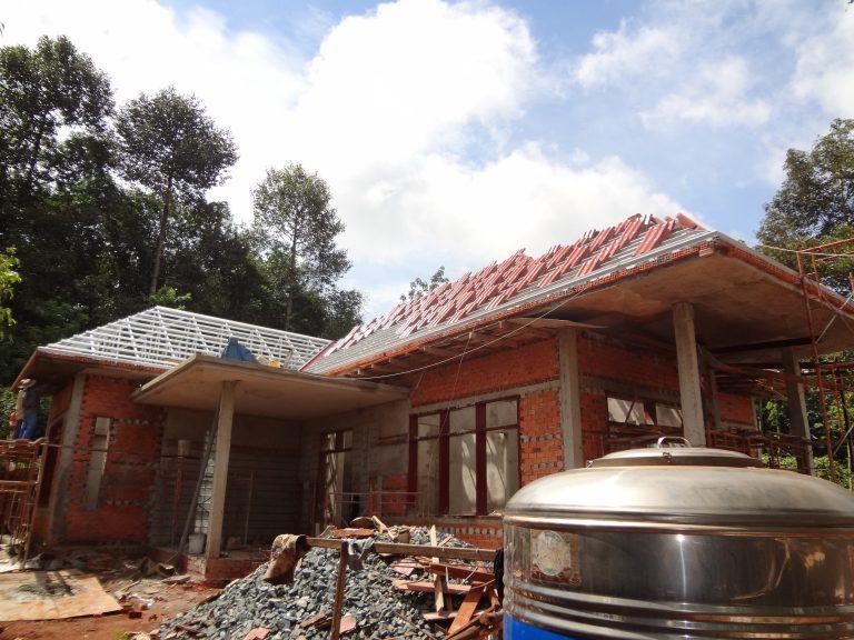Thi công mái ngói Bình Phước - Công trình nhà cô Nhàn