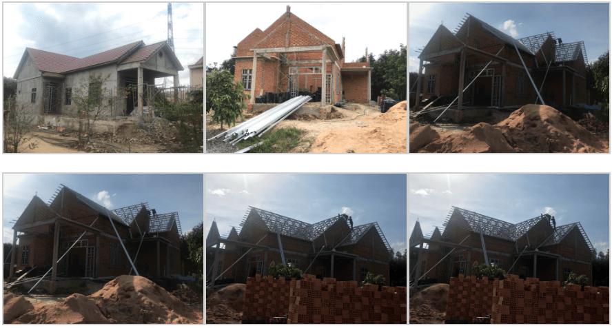 Thi công mái ngói Bình Thuận - Công trình nhà anh Huân - Đức Linh