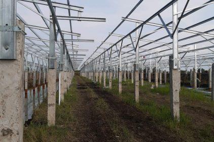 Thi công Kết cấu khung đỡ Pin  cho điện năng lượng mặt trời.