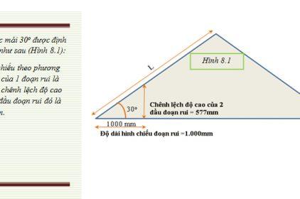 Cách tính độ dốc trong xây dựng, cách tính độ dốc mái ngói